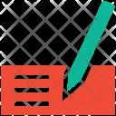 Slip Receipt Pen Icon