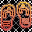 Flip Flop Footware Sandals Icon