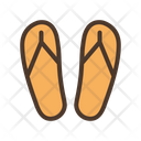 Slippers Flip Flops Footwear Icon