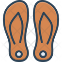 Slippers Comfortable Footwear Icon