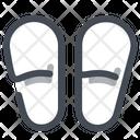 Slippers Wellness Footwear Icon