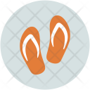 Slippers Flipflops House Icon