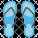 Slippers Footwear Beachwear Icon