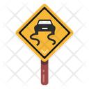 Road Board Driving Sign Rash Driving Icon