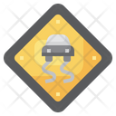 Slippery Road Icon