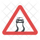 Slippery Road Sign Icon