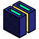 Slot Hollow Cut Icon