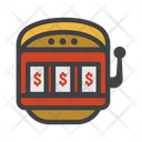 Slot Machine One Armed Bandit Coin Machine Icon