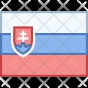 Slovakia Flag Country Icon