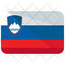Slovenia Flag Country Icon