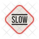 Slow Sign Traffic Icon
