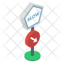 Slow Speed Symbol Road Direction Road Arrow Icon
