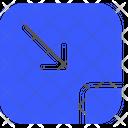 Small Screen Arrow Minimize Icon