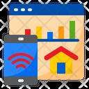 Smart Analysis Report Smartphone Icon