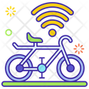 Smart Bicycle Connected Cycle Bicycle Icon