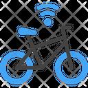 Smart Bicycle Electric Bike Icon