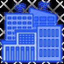 Smart Building Network Building Icon