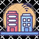 Smart Buildings Smart City Buildings Icon
