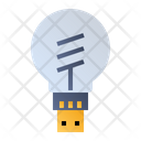 Smart Bulb Lamp Light Icon