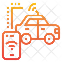 Smartphone Car Security Icon