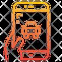 Smart Car Car Smartphone Icon