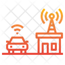 Smart Car Internet Of Things Car Icon