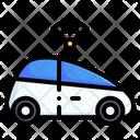Smart Car Electric Car Transportation Icon