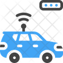 Smart Car Electric Wireless Icon
