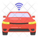 Wifi Car Smart Car Smart Vehicle Icon