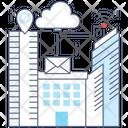 Smart City Smart Technology Wireless Technology Icon