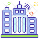 Smart City Skyscraper Skyline Icon