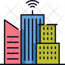 Smart City Smart Building Connection Icon
