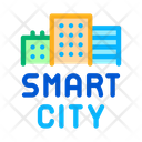 Smart City Buildings Icon