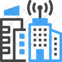 Buildings Connection Architecture Icon