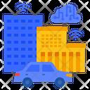 Smart City Smart Car Smart Icon