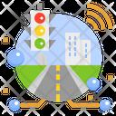 Smart City Traffic Management Digital Transformation Iot Traffic Control Incident Management Icon