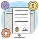 Commitment Smart Contract Smart Agreement Icon