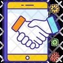 Smart Contract Handshake Teamwork Icon