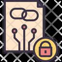 Contract Smart Blockchain Icon