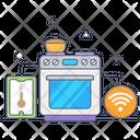 Smart Cooking Range Icon