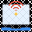 Laptop Online Signal Icon