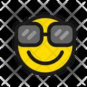 Smart Face Smile Glasses Icon