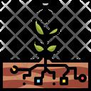 Smart Farm Data Ecology Icon