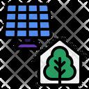 Smart Farm Greenhouse Solar Icon