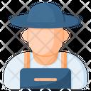 Farmer Worker Man Icon