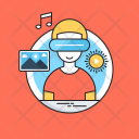 Smart Glasses Landscape Icon