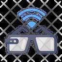 Smart Goggles 3 D Glasses Virtual Reality Icon