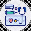 Smart Health Care Cardiogram Electrocardiogram Icon