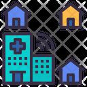 Hospital Home Telemedicine Icon