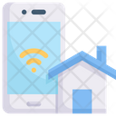 Smart Home Technology Digital Icon
